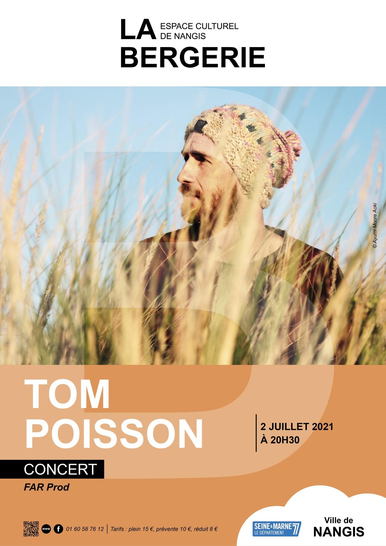 Concert Tom Poisson : affiche