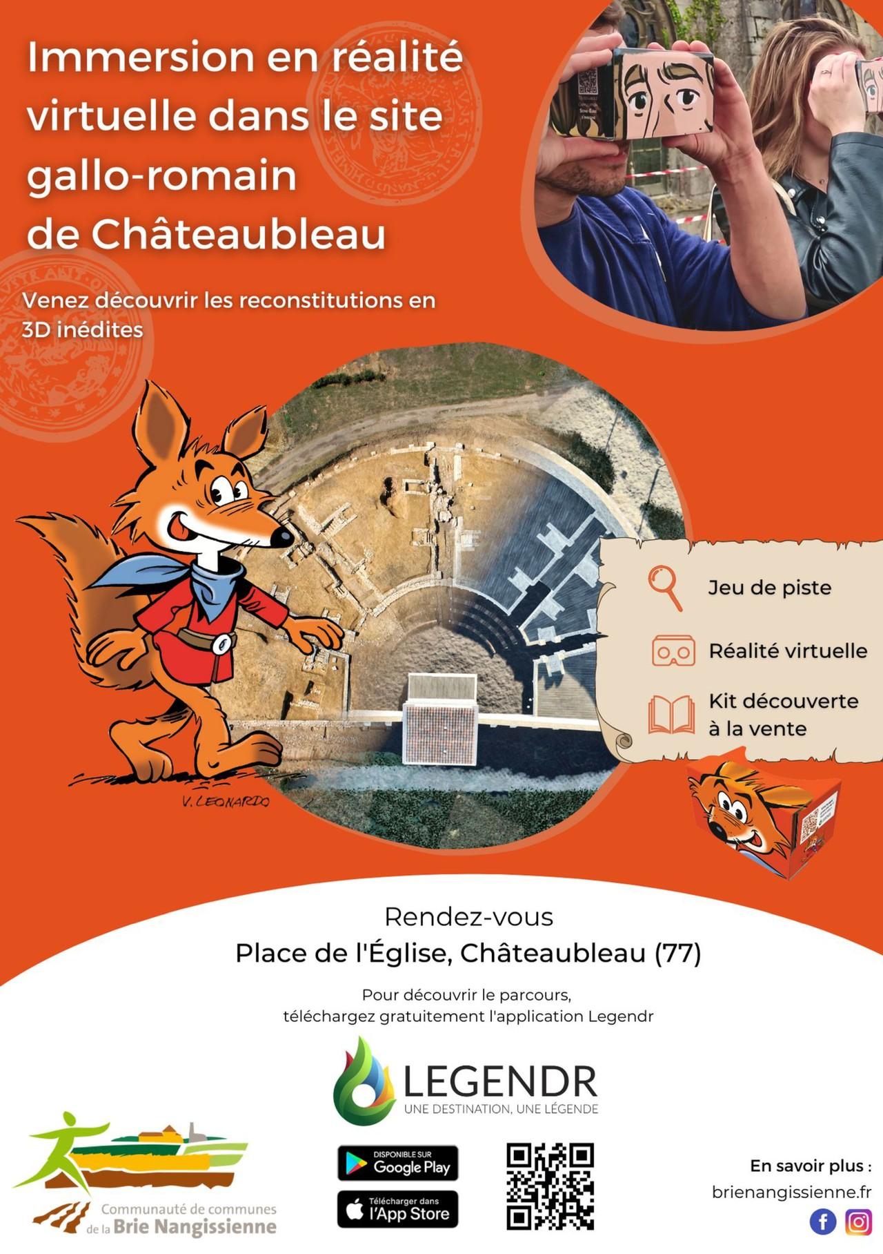 Châteaubleau en réalité vitruelle : affiche