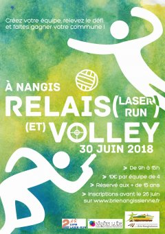 Relais-Volley 2018 : Flyer
