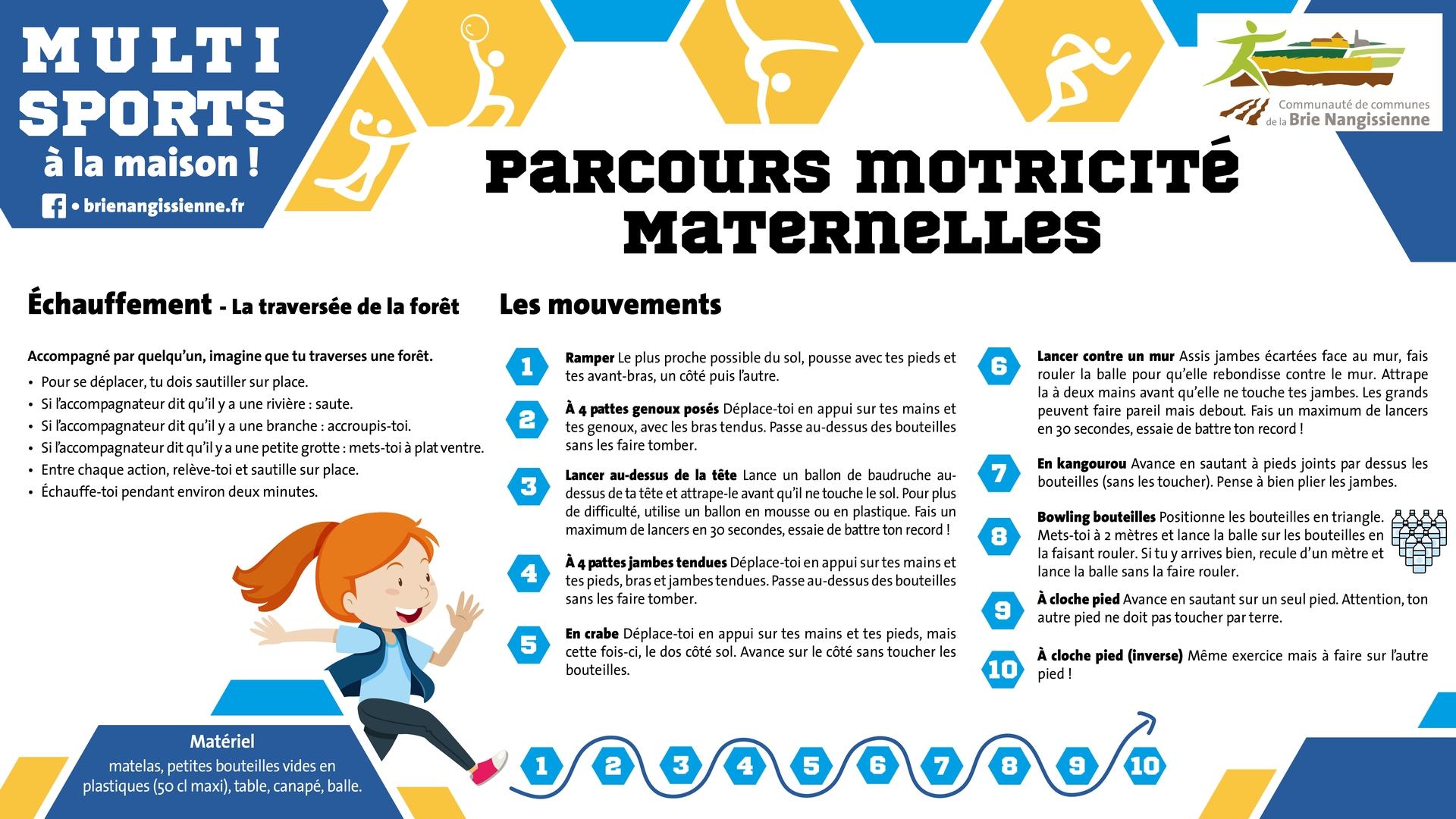 Activité #12 Motricité maternelles - FICHE